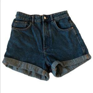 TRF Mom Shorts, Dark Wash